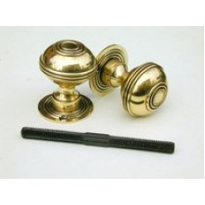 Bloxwich aged brass door/rim knob large