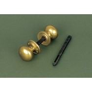 Small brass cottage door/rim knob