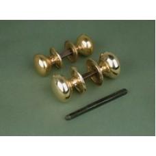 Large brass cottage door/rim knob.