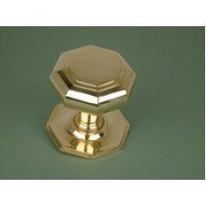 Octagonal large brass door pull