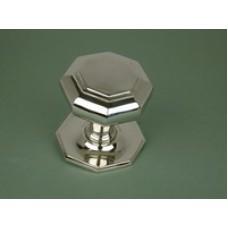 Octagonal large nickel door pull