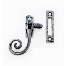 Casement fastener with hook plate in antique - curled