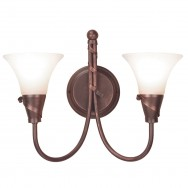 Emily Copper Patina 2Lt Wall Light