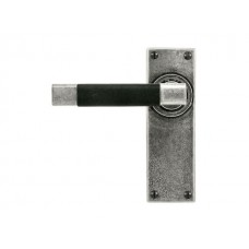 Jedburgh (Black) - Lever on Latch Backplate