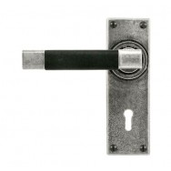 Door Lever Jedburgh (Black)- Lock
