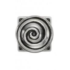 Swirl - Door Knob on 'JESMOND' Rose Backplate