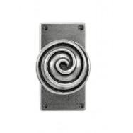 Swirl - Door Knob on 'JESMOND' Short Latch Backplate