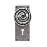 Swirl - Door Knob on 'JESMOND' Lock Backplate