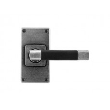 Jedburgh (Black)- Door Knob on 'JESMOND' Short Latch Backplate