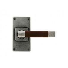 Jedburgh(chocolate)- Door Knob on 'JESMOND' Short Latch Backplate
