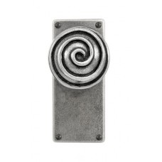 Pewter Door Knob on Jesmond Latch Backplate