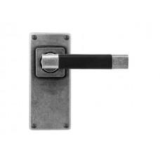 Jedburgh (Black) - Door Knob on 'JESMOND' Short Latch Backplate