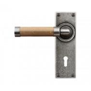 Door Lever Milton (Oak) - Lock