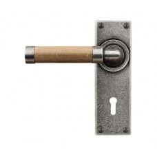 Door Lever Milton (Oak) - Lock