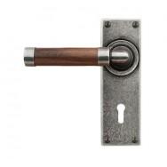 Door Lever Milton (Walnut) - Lock