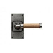 Milton (oak)- Door Knob on 'JESMOND' Short Latch Backplate