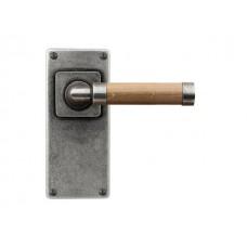 Milton (oak) - Door Knob on 'JESMOND' Short Latch Backplate