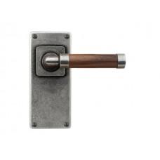 Milton (walnut) - Door Knob on 'JESMOND' Short Latch Backplate