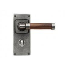 Milton(Walnut)- Door Knob on 'JESMOND' Bathroom Backplate