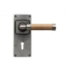 Milton(oak)- Door Knob on 'JESMOND' Lock Backplate