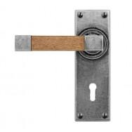 Door Lever Eden (Oak)- Lock