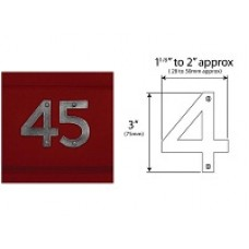 Pewter Door Numbers