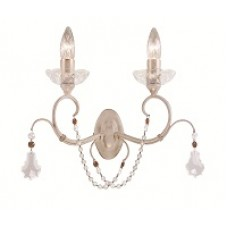Louise 2 lt wall light Ivory / Gold