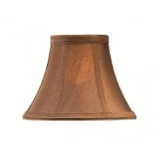 Brown Silk Effect Candle Shade