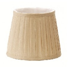 Pleated Coffee Candle Shade