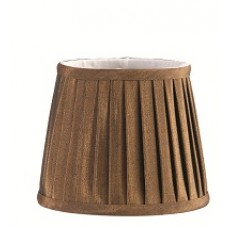 Pleated Chocolate Candle Shade