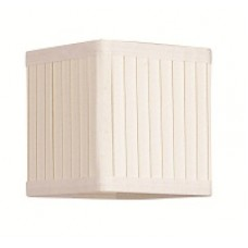 Pleated SQ Ivory Candle Shade