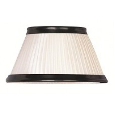 Pleated + Old Bronze trim silk effect Candle Shade
