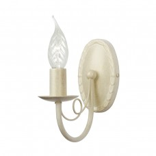 Minster 1Lt Wall Light in Ivory/Gold