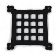 Flat door grille
