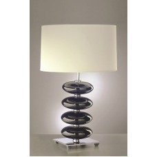 Onyx Black Lamp shown with optional Off White 34cm Cylinder Shade LS1028