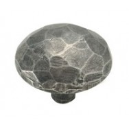 Large Facet Genuine Pewter Cabinet Knob