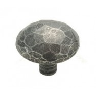 Medium Facet Genuine Pewter Cabinet Knob