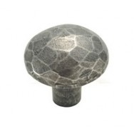 Small Facet Genuine Pewter Cabinet Knob
