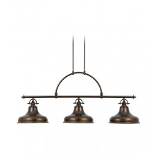 Emery (3Lt) Island Light Palladian Bronze