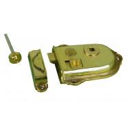 Cromwell, rim latch in cast brass