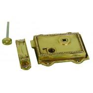 Regency, rim latch in cast brass