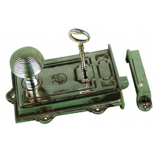 Davenport, Single lever rimlock in Nickel plated brass