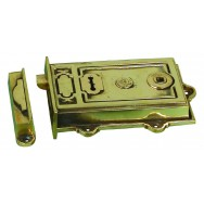 Davenport, Single lever rimlock in cast brass