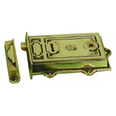 Davenport, Single lever rimlock in cast brass