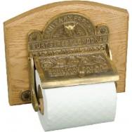 Toilet roll holder - aged brass