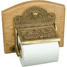 Toilet roll holder - aged brass