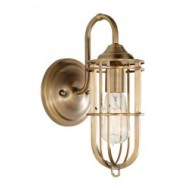 Urban Renewal Single Wall Lamp - Dark Antique Brass