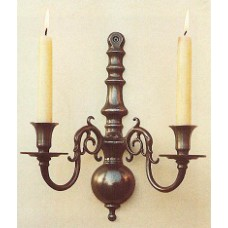 2 Lt wall light - Antique (candle fitting shown), Albert Bartram