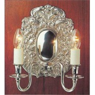 2 Lt Wall Light - Polished, Albert Bartram